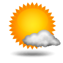 Weather forecast for today: mostly sunny