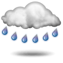 Weather forecast for today: heavy rain