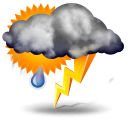 partly thunderstorms