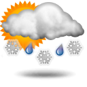 Weather forecast for today: partly sleet