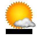 Wettervorhersage für Heute: meist sonnig