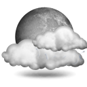 mostly cloudy