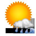 Wettervorhersage für Heute: teils Regen