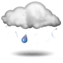 Weather forecast for today: light rain or drizzle