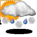 Wettervorhersage für Heute: teils Schneeregen