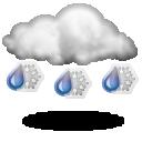 Wettervorhersage für Heute: Schneeregen