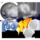Wettervorhersage für Heute: Gewitter und Schneeregen