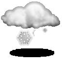 Wettervorhersage für Heute: leichter Schneefall