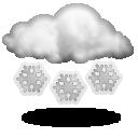 Wettervorhersage für Heute: starker Schneefall