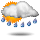 teils starker Regen