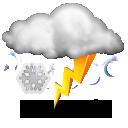 Wettervorhersage für Heute: teils Gewitter und Schnee