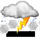 Wettervorhersage für Heute: Schneesturm