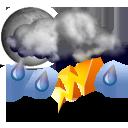 Wettervorhersage für Heute: Gewitter
