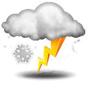 Weather forecast for today: party thunderstorms and snow