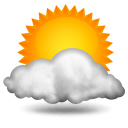 Weather forecast for today: partly sunny